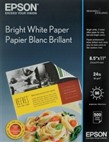 "Epson Premium Bright White Paper 8.5""x11"" 500 Sheets"