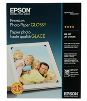 "Epson Premium Photo Paper Glossy 8.5"" x 11"" - 50 sheets"