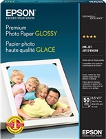 "Epson Premium Photo Paper Glossy 11.7"" x 16.5"" - 20 sheets"