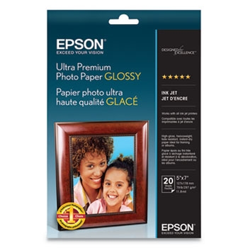 "Epson Ultra Premium Photo Paper Glossy, 5"" x 7"" - 20 sheets"