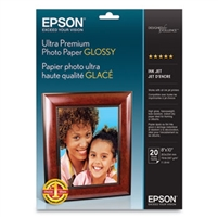 "EPSON Ultra Premium Photo Glossy 8""x10"" 20 Sheets"
