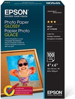"Epson Photo Paper Glossy, 4"" x 6"" - 100 sheets"