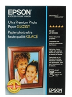 "EPSON Ultra Premium Glossy Photo 4""x6"" 100 Sheets"