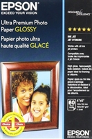 "Epson Ultra Premium Photo Paper Glossy 4""x6"" - 60 Sheets"