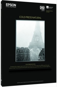 EPSON Cold Press Natural 21mil 8.5in x 11in - 25 Sheets