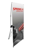 "Orbus Spring Back 4 Silver Banner Stand 27""x62.25"""