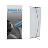 Orbus Spring Back Banner Stand Double Sided Graphic 35.125""