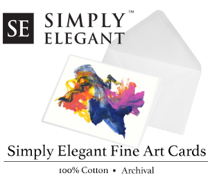 Simply Elegant Artist Cards, 205gsm 100% cotton Archival, #9 Large 100 Pack (Cards & Envelopes)
