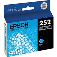 Epson 252 DURABrite Ultra Cyan Ink Cartridge - T252220