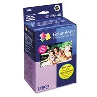 Epson PictureMate 200 Series Print Pack Ink & Paper - Glossy - T5846