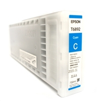 Epson UltraChrome GS2 Cyan Ink Cartridge 700ml for S30670, S50670 - T689200