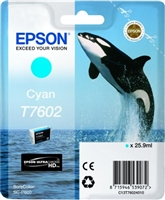 Epson 760 UltraChrome HD Cyan Ink 25.9ml for SureColor P600 - T760220
