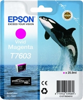 Epson 760 UltraChrome HD Vivid Magenta Ink 25.9ml for SureColor P600 - T760320