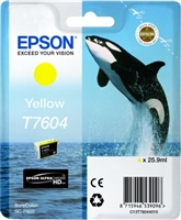 Epson 760 UltraChrome HD Yellow Ink 25.9ml for SureColor P600 - T760420