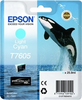 Epson 760 UltraChrome HD Light Cyan Ink 25.9ml for SureColor P600 - T760520