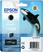 Epson 760 UltraChrome HD Matte Black Ink 25.9ml for SureColor P600 - T760820