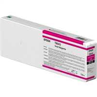 Epson UltraChrome HD 700mL Vivid Magenta Ink Cartridge for SureColor P6000, P7000, P8000, P9000 - T804300