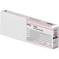 Epson UltraChrome HD 700mL Vivid Lt. Magenta Ink Cartridge for SureColor P6000, P7000, P8000, P9000 - T804600