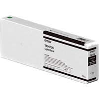Epson UltraChrome HD 700mL Light Black Ink Cartridge for SureColor P6000, P7000, P8000, P9000 - T804700
