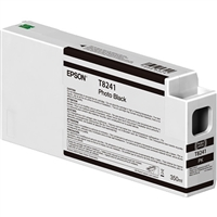 Epson UltraChrome HD 350mL Photo Black Ink Cartridge for SureColor P6000, P7000, P8000, P9000 - T824100