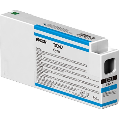 Epson UltraChrome HD 350mL Cyan Ink Cartridge for SureColor P6000, P7000, P8000, P9000 - T824200