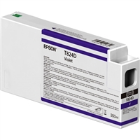 Epson UltraChrome HDX 350mL Violet Ink Cartridge for SureColor P7000, P9000 - T824D00