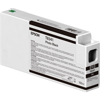 Epson UltraChrome HD 150mL Photo Black Ink Cartridge for SureColor P6000, P7000, P8000, P9000 - T834100
