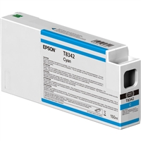 Epson UltraChrome HD 150mL Cyan Ink Cartridge for SureColor P6000, P7000, P8000, P9000 - T834200