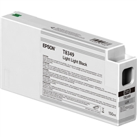 Epson UltraChrome HD 150mL Light Light Black Ink Cartridge for SureColor P6000, P7000, P8000, P9000 - T834900
