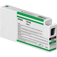 Epson UltraChrome HDX 150mL Green Ink Cartridge for SureColor P7000 P9000 - T834B00