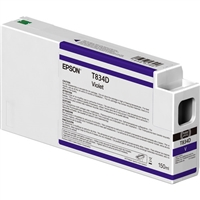 Epson UltraChrome HDX 150mL Violet Ink Cartridge for SureColor P7000, P9000 - T834D00