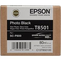 Epson UltraChrome HD Ink Cartridge 80ml For Epson SureColor P800 - Photo Black