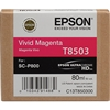 Epson UltraChrome HD Ink Cartridge 80ml For Epson SureColor P800 - Vivid Magenta