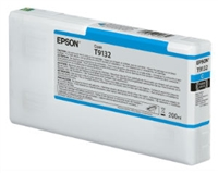 Epson Ultrachrome HD Cyan Ink Cartridge 200ml for SureColor P5000 Printers - T913200