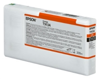 Epson Ultrachrome HDX Orange Ink Cartridge 200ml for SureColor P5000 Printers - T913A00