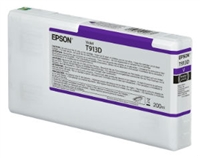 Epson Ultrachrome HDX Violet Ink Cartridge 200ml for SureColor P5000 Printers  - T913D00