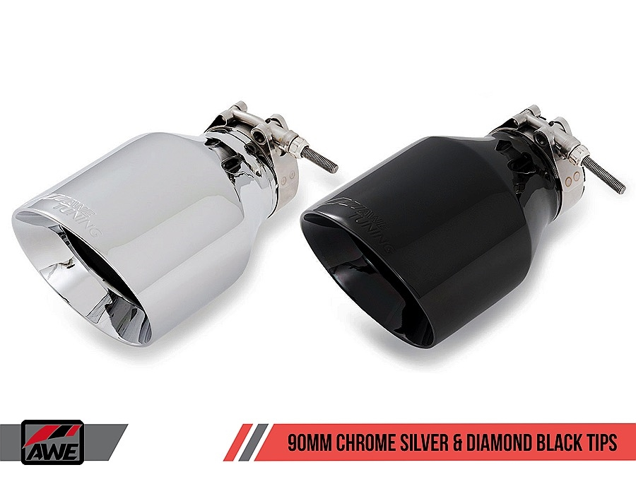 AWE Audi B9 S5 Sportback Track Edition Exhaust - Non-Resonated (Black 102mm  Tips)