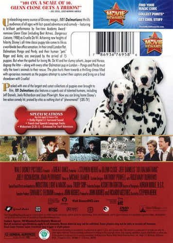 101 Dalmatians Dvd 1996 Glenn Close 9 99 Buy Now Raredvds Biz