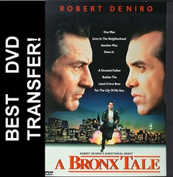 Robert DeNiro's A Bronx Tale DVD Movie Cover 1993