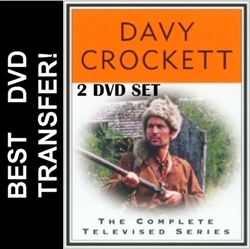 Davy Crockett DVD 1955 1956 Complete Disney TV Series