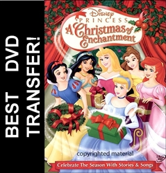 Disney Princess A Christmas Of Enchantment DVD 2005
