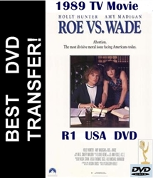 Roe vs Wade DVD 1989 Holly Hunter TV Movie