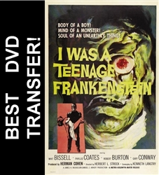 I Was A Teenage Frankenstein DVD 1957 Whit Bissell