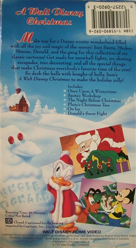 A Walt Disney Christmas DVD 1982 $9.99 BUY NOW - RareDVDs.Biz