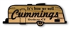 Vintage Airstream style rustic carved camping signs
