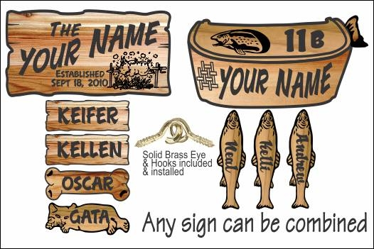 Vintage Airstream Style Rustic Camping Signs Carved From