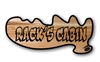 CARVED WOOD CABIN SIGN - MOOSE ANTLER