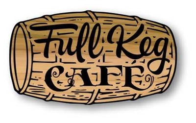 Rustic, Carved Wooden Barrel Shape Sign