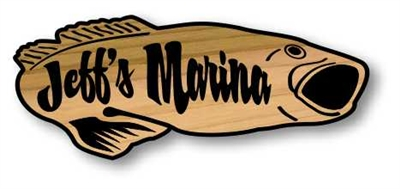Our Bass Cabin Sign is one of our most popular gift items for the men