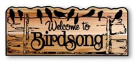 RUSTIC PERSONALIZED BIRDS OF A FEATHER CUSTOM WELCOME SIGN